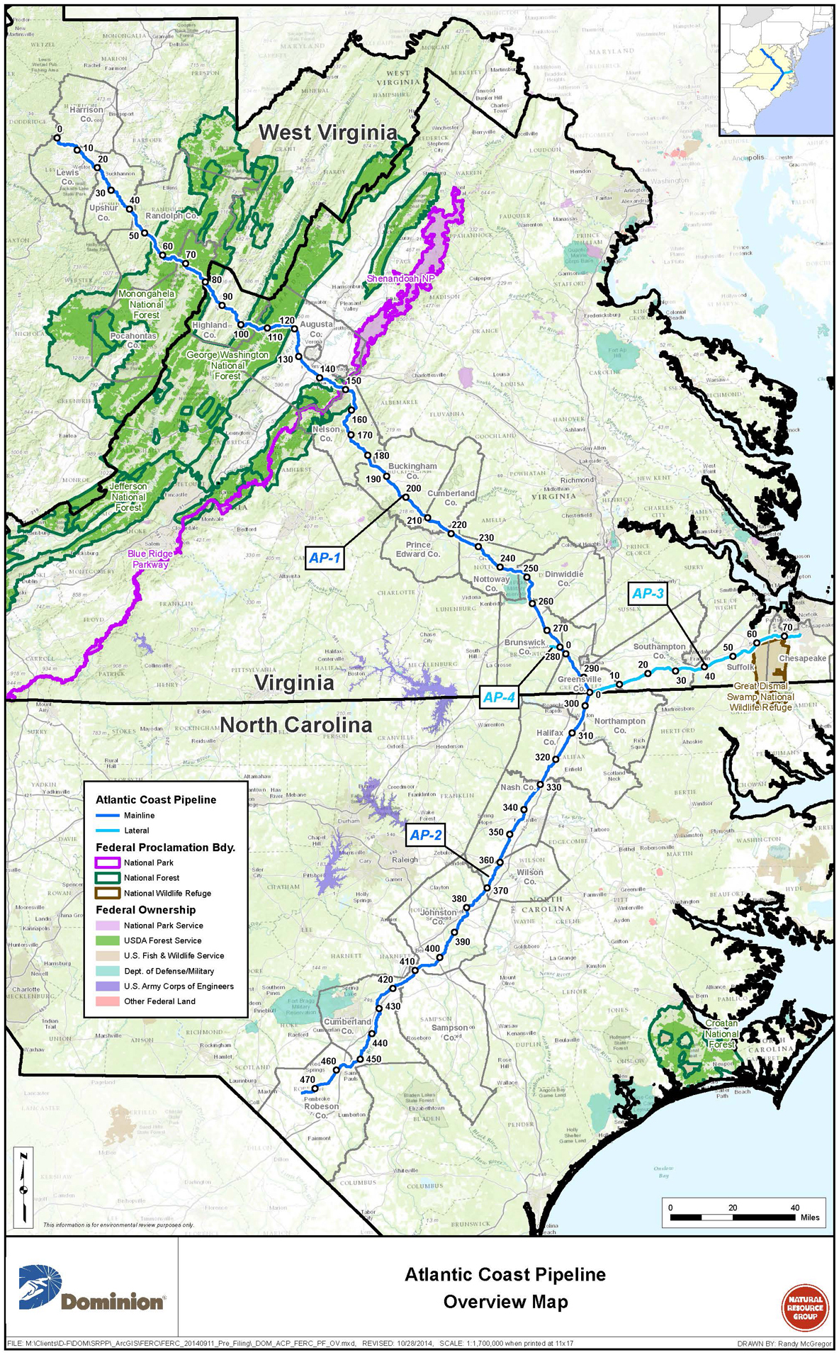 Atlantic Coast Pipeline Overview Map - Map Of Current Pipelines In The Us